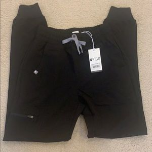 NWT FIGS Black High Waisted Zamora Joggers XXS
